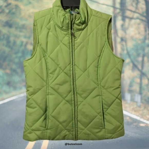 Saint John's Bay Active Jackets & Blazers - Full Zipper Front Quilted Vest Activewear Pockets